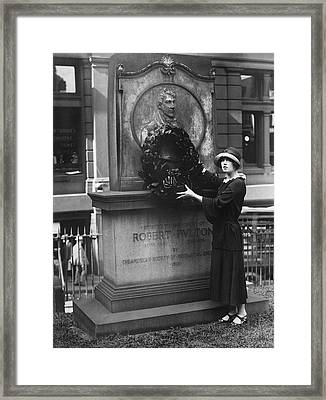 Marion Davies Honors Fulton Framed Print