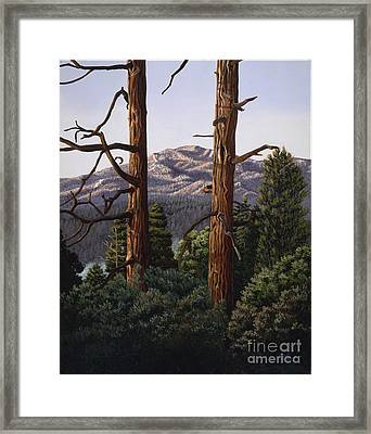 Marion Mountain At Sun Set Framed Print