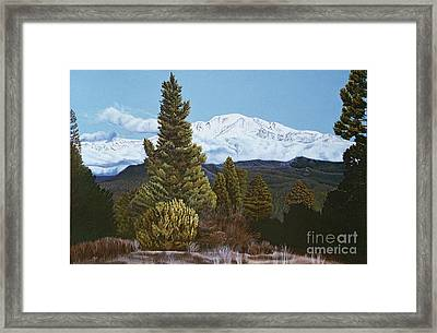 Marion Mountain In Winter Framed Print by Jiji Lee