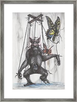 Marionette Monarchy Framed Print