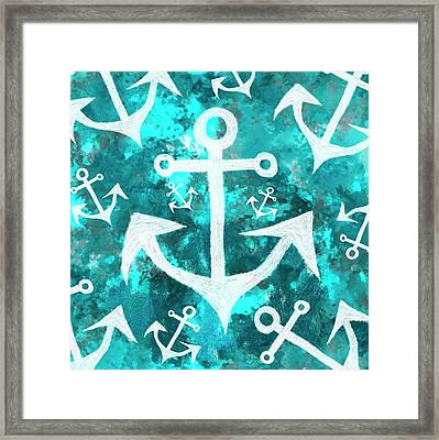 Maritime Anchor Art Framed Print