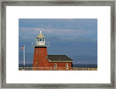 Mark Abbott Memorial Lighthouse California - The World's Oldest Surfing Museum Framed Print by Christine Till