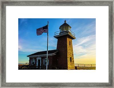 Mark Abbott Memorial Lighthouse Framed Print by Garry Gay