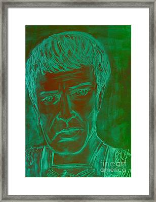 Mark Antony In Copper Green Framed Print