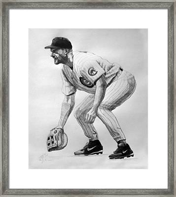 Mark Grace Framed Print by Adam Barone