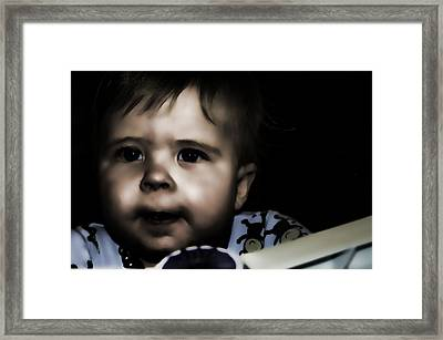 Mark In The Dark Framed Print