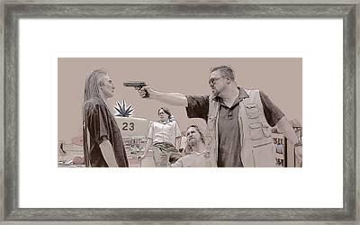 Mark It Zero Framed Print by Kurt Ramschissel