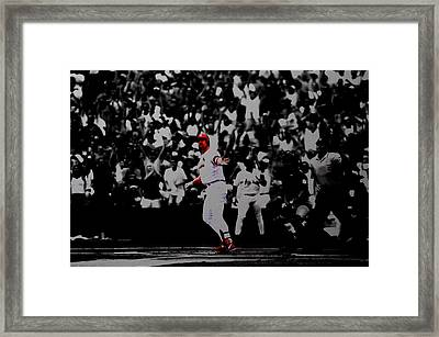 Mark Mcgwire Its Outta Here Framed Print by Brian Reaves