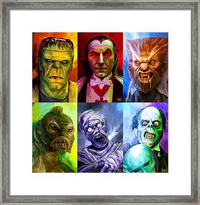 Mark Spears Monsters Group Framed Print by Mark Spears