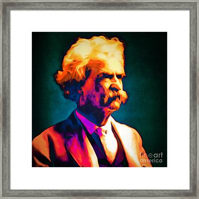 Mark Twain 20151224 Square Framed Print by Wingsdomain Art and Photography