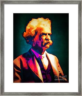 Mark Twain 20151224 Framed Print