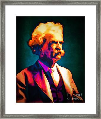 Mark Twain 20151224 Framed Print by Wingsdomain Art and Photography