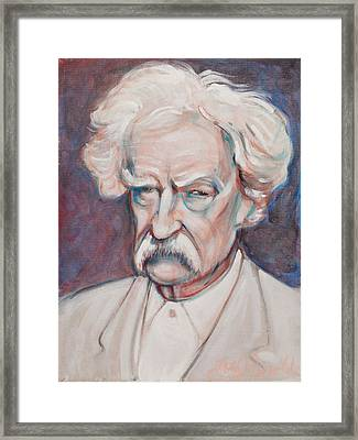 Mark Twain Framed Print