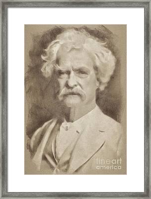 Mark Twain, Literary Legend By John Springfield Framed Print