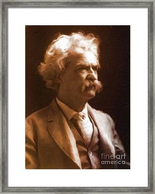 Mark Twain, Literary Legend By Mary Bassett Framed Print