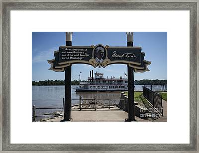 Mark Twain On The Big Muddy Framed Print by David Bearden