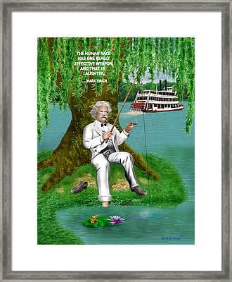 Mark Twain On The Mississippi Framed Print