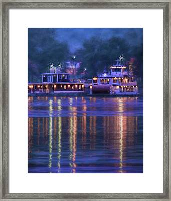 Mark Twain - Riverboat - Hannibal - Missouri Framed Print