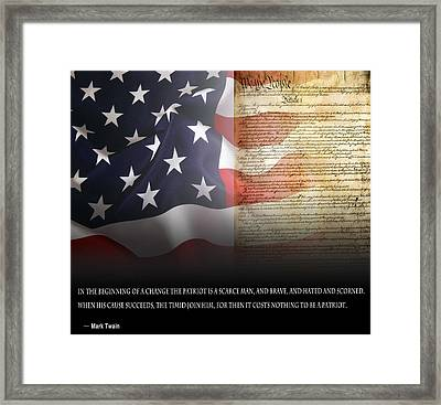 Mark Twains Patriot Framed Print by Daniel Hagerman