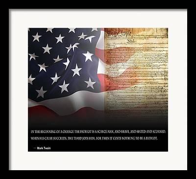 Rights Of Man Digital Art Framed Prints