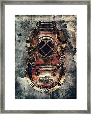 Mark V - Navy Deep Diving Helmet - 1943 Framed Print