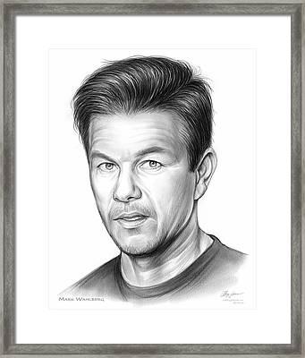 Mark Wahlberg Framed Print by Greg Joens