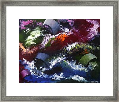 Framed Print featuring the painting Mark Webster - Abstraction 1 by Mark Webster