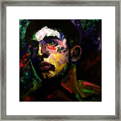 Framed Print featuring the painting Mark Webster Artist - Dave C. 0410 by Mark Webster Artist