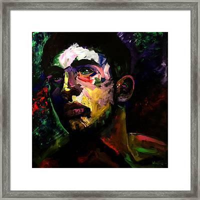 Mark Webster Artist - Dave C. 0410 Framed Print by Mark Webster Artist
