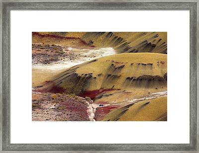 Marked Hills Framed Print by Mike  Dawson
