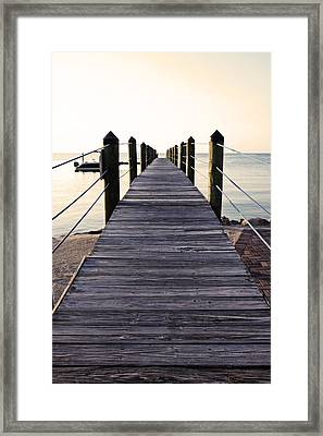 Marker 88 Pier Framed Print by Ty Helbach