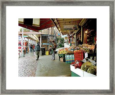 Market Alley Wares Framed Print