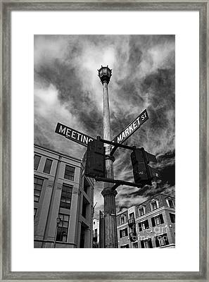 Market And Meeting Framed Print by Wendy Mogul