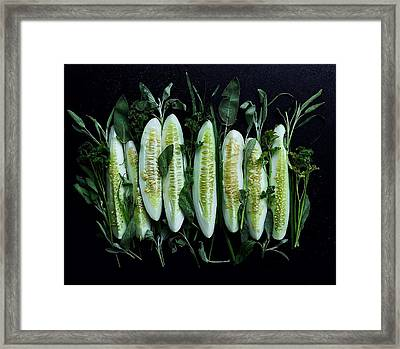 Market Cucumbers Framed Print