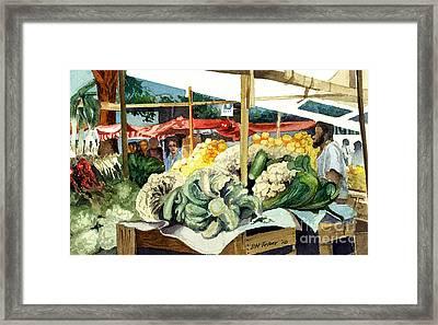 Market Day At Ipanema Framed Print