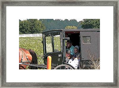 Market Day Framed Print by David Bearden