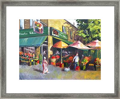 Market Day Framed Print by Diane Daigle