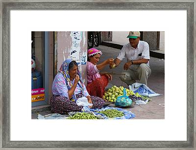 Market Day Framed Print by Don Prioleau