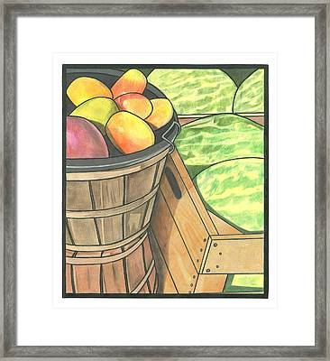 Market Display Framed Print by Lesley Rutherford