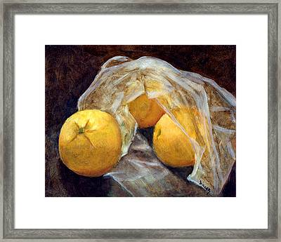 Market Fresh Framed Print by Linda Hiller