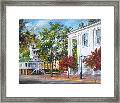 Market Hall In The Fall Framed Print