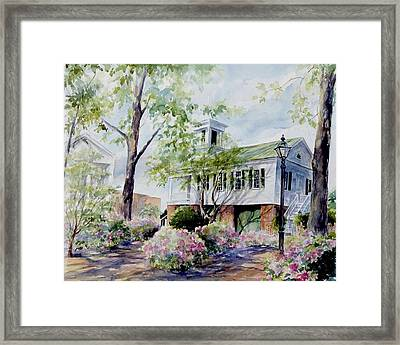 Framed Print featuring the painting Market Hall In The Spring by Gloria Turner