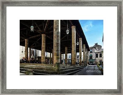 Market Hall Of Cordes-sur-ciel Framed Print