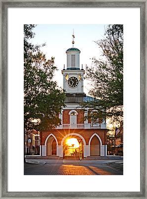 Market House Sunrise - 2015 November 11 Framed Print by Matt Plyler