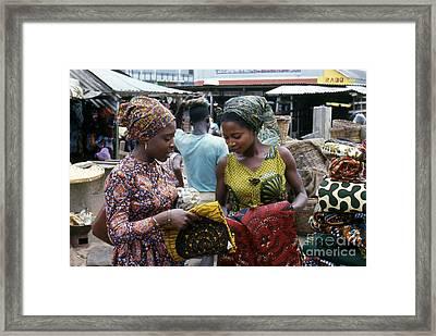 Market In Accra Ghana Framed Print