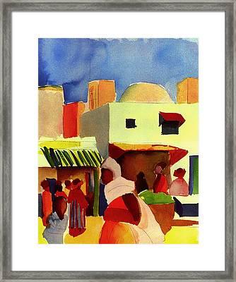 Market In Algiers Framed Print by Mountain Dreams