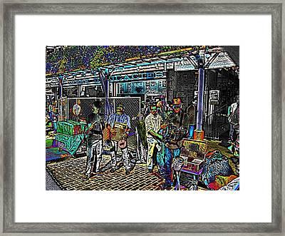 Market Interlude 2 Framed Print by Tim Allen