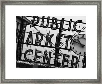 Market Framed Print by John Gusky
