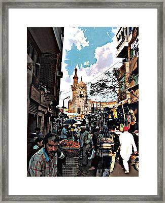 Market Framed Print by Noredin Morgan