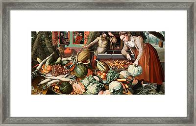 Market Scene Framed Print by Mountain Dreams